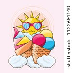 cute sun design | Shutterstock .eps vector #1122684140