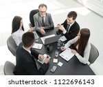 from the top view.business team ... | Shutterstock . vector #1122696143