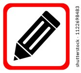 icon of pencil on white... | Shutterstock .eps vector #1122698483