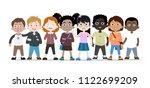 cartoon collection of kids... | Shutterstock .eps vector #1122699209