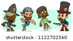 cartoon funny boy and girl... | Shutterstock .eps vector #1122702560
