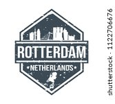 rotterdam netherlands travel... | Shutterstock .eps vector #1122706676