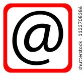 email icon on white background. ... | Shutterstock .eps vector #1122708386