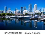 Waterfront at Toronto with high rise building as background - stock photo