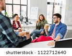 business and people concept  ... | Shutterstock . vector #1122712640