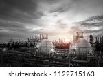 gas storage sphere tanks and... | Shutterstock . vector #1122715163