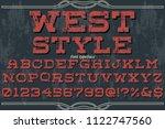 font alphabet typeface vintage... | Shutterstock .eps vector #1122747560