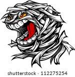 cartoon vector image of a scary ... | Shutterstock .eps vector #112275254