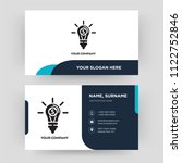 invention  business card design ... | Shutterstock .eps vector #1122752846