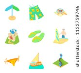 reconstruction icons set.... | Shutterstock . vector #1122759746