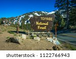 marker sign at sonora pass  ... | Shutterstock . vector #1122766943