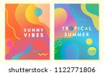unique artistic summer cards... | Shutterstock .eps vector #1122771806