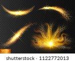 sparkle stardust. golden... | Shutterstock .eps vector #1122772013