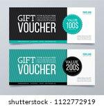 gift voucher template design... | Shutterstock .eps vector #1122772919