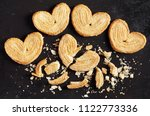 palmiers  whole and broken puff ... | Shutterstock . vector #1122773336