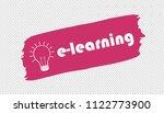 e learning and lightbulb... | Shutterstock .eps vector #1122773900