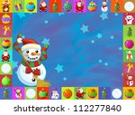 the christmas card with clear... | Shutterstock . vector #112277840