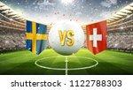 sweden vs switzerland. soccer... | Shutterstock . vector #1122788303