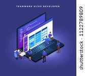 business concept teamwork of...