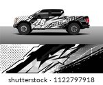 pick up truck and car racing...   Shutterstock .eps vector #1122797918