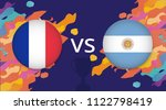 french and argentine flags ... | Shutterstock .eps vector #1122798419