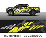 pick up truck and car racing...   Shutterstock .eps vector #1122800900