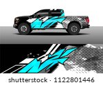 pick up truck and car racing... | Shutterstock .eps vector #1122801446