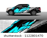 pick up truck and car racing... | Shutterstock .eps vector #1122801470