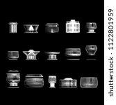 crockery pan urns vector... | Shutterstock .eps vector #1122801959