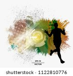 fit young male jogger. healthy... | Shutterstock .eps vector #1122810776