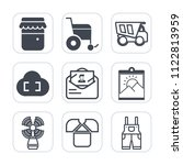 premium outline  fill icons set ... | Shutterstock .eps vector #1122813959