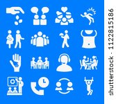 set of 16 people filled icons... | Shutterstock .eps vector #1122815186