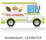 Car Carrying Ice Cream Vector...