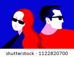 couple in love  two lovers  man ... | Shutterstock .eps vector #1122820700