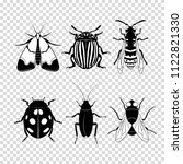 set of different insects on... | Shutterstock .eps vector #1122821330