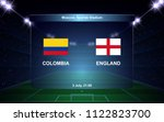 colombia vs england football... | Shutterstock .eps vector #1122823700