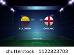 colombia vs england football... | Shutterstock .eps vector #1122823703