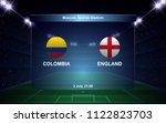 colombia vs england football... | Shutterstock .eps vector #1122823703