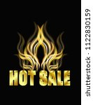 hot sale banner | Shutterstock .eps vector #1122830159