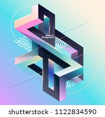 abstract multicolor geometrical ... | Shutterstock .eps vector #1122834590