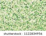 green mosaic wall background... | Shutterstock . vector #1122834956