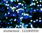 abstract circular bokeh... | Shutterstock . vector #1122835553