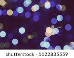 abstract circular bokeh... | Shutterstock . vector #1122835559