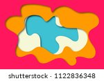 3d abstract background with... | Shutterstock . vector #1122836348