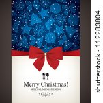 christmas and new year  vector... | Shutterstock .eps vector #112283804