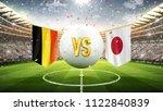 belgium vs japan. soccer... | Shutterstock . vector #1122840839
