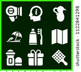 set of 9 other filled icons...   Shutterstock .eps vector #1122841298