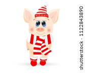 new year piglet. the year of... | Shutterstock .eps vector #1122843890