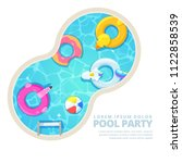 isolated circle swimming pool ... | Shutterstock .eps vector #1122858539