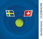 sweden vs switzerland flags... | Shutterstock .eps vector #1122864248